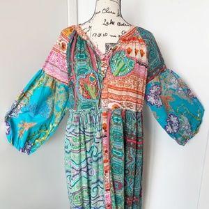 Antica Sartoria Dresses - NWT Antica Sartoria Boho Dress/Tunic/Beach Coverup